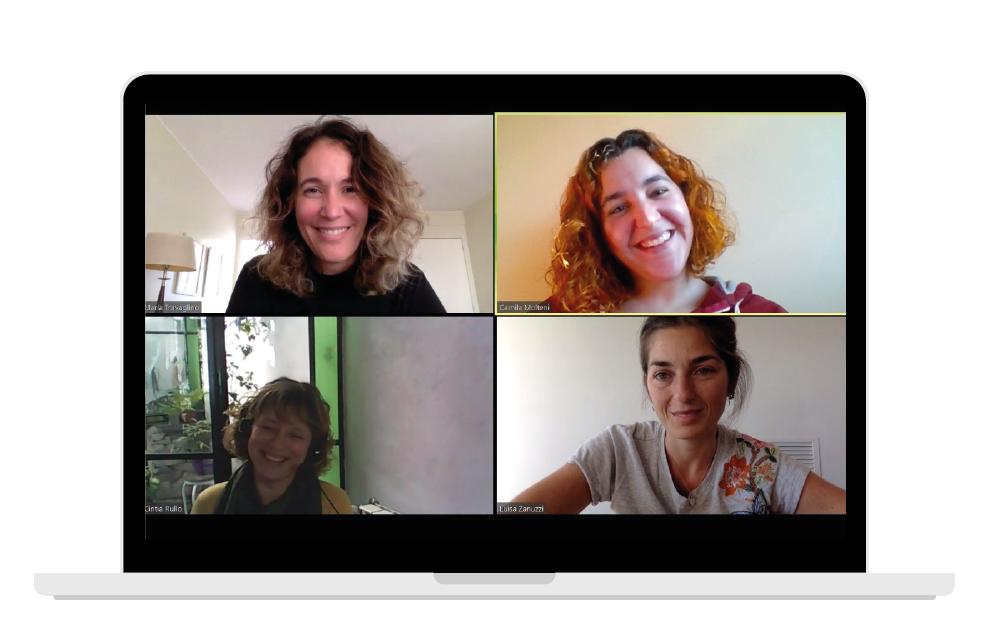 María Travaglino, Luisa Zanuzzi, Cintia Rullo y Camila Molteni